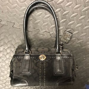 Coach!!!  Midsized black purse
